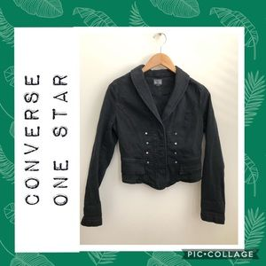 Converse One Star Washed Black Cropped Jacket 🖤